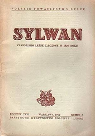 Sylwan - okładka leśnego czasopisma naukowego wydawanego przez PTL