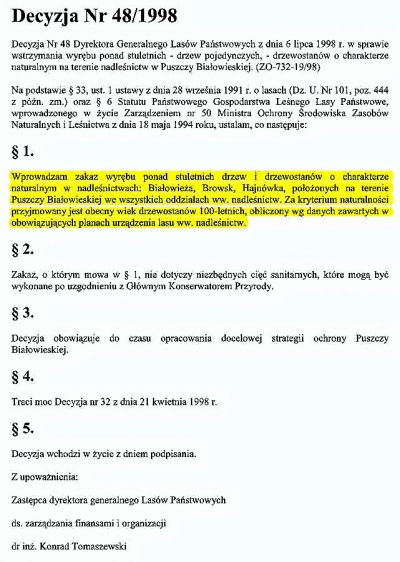 Decyzja 48 z 1998 K.Tomaszewski