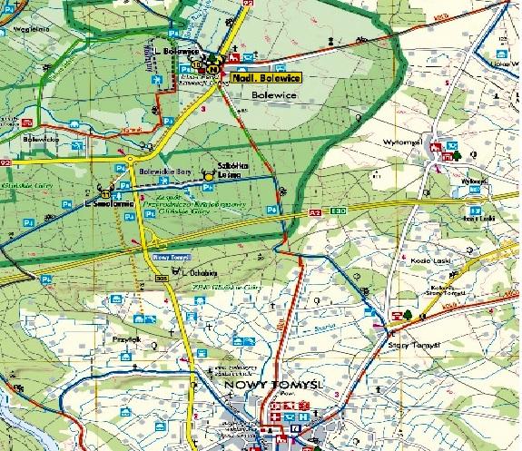 Położenie geograficzne Bolewic- mapa topograficzna