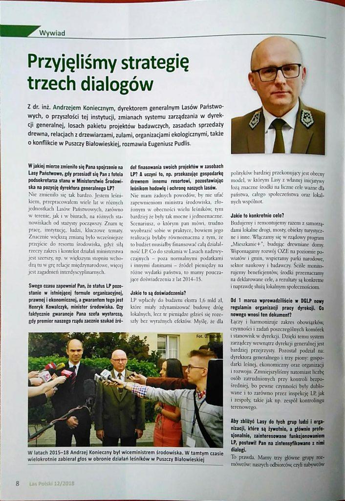 Strona tytułowa wywiadu E.Pudlis - A.Konieczny