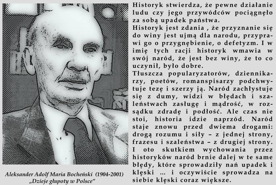 """Fragment z dzieła Aleksandra Bocheńskiego - """"Dzieje głupoty w Polsce"""""""