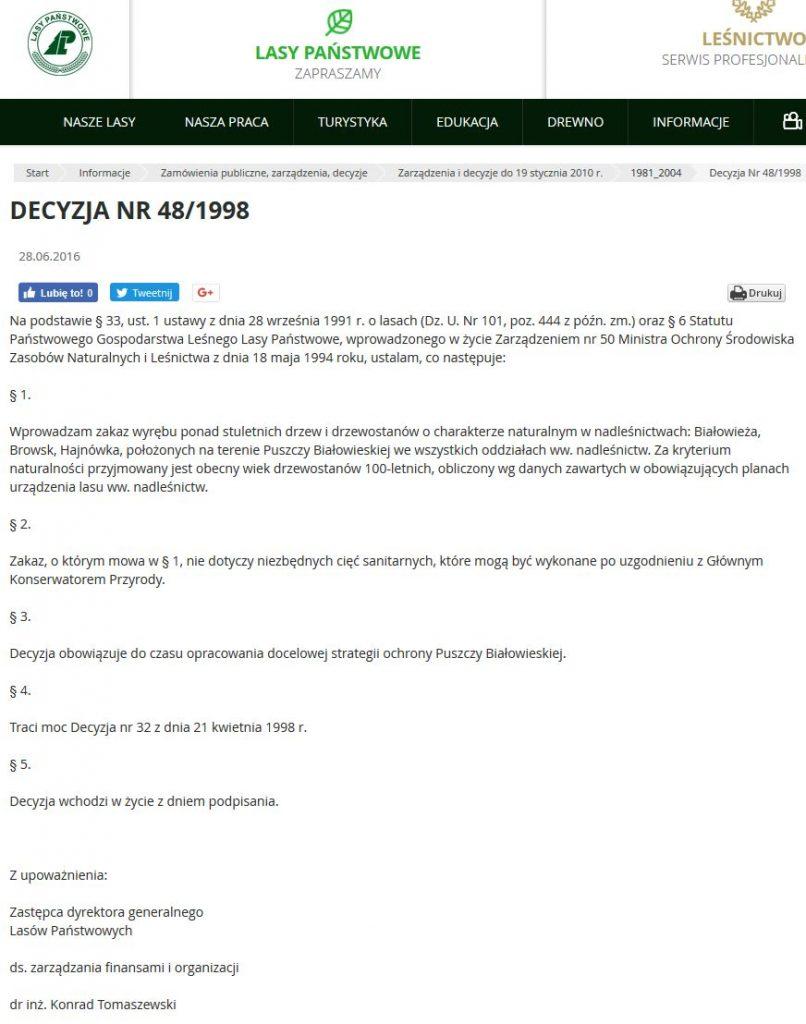 Decyzja 48/1998 DGLP