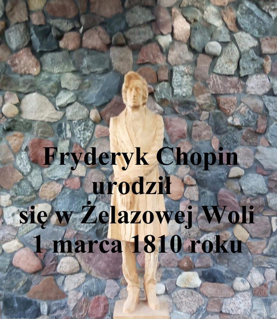 Fryderyk Chopin, rzeźba w drewnie