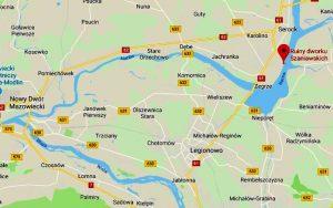 Położenie ruin dworku na mapie Google