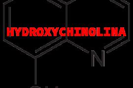 Hydroxychinolina - budowa cząsteczki