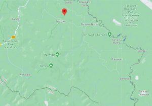 Położenie grzbietu Jeleniowatego w Bieszczadach - Google Maps