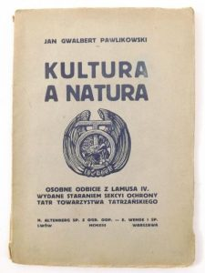 """Okładka pierwszego wydania ksiązki """"Kultura a natura"""""""