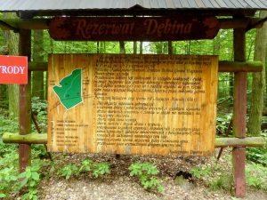 Tablica infomacyjna o rezerwacie