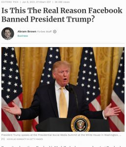 President of US banned by Fb