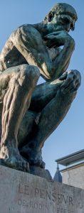 Rzeźba. Mysliciel. A.Rodin